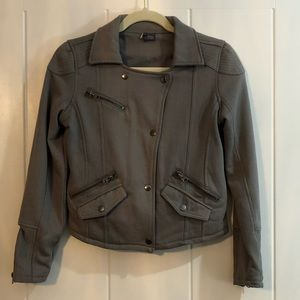Sparkle & Fade gray button jacket